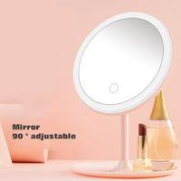 Portable LED regolabile make-up specchio circolare luminosa calda basamento chiaro Led cosmetico USB prendere ricarica di pari specchio Samrt casa GGE1922