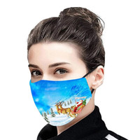 New Arrival Christmas Santa Claus Hot Sale 3D Digital Printing Face Mask Dustproof Ice Silk Washable Party Mask