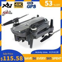 XKJ New Drone Бесщеточный мотор 5G GPS Дрон с 4K Двойной камеры Профессиональный складной Quadcopter Длинные дистанционные дистанционные дистанционные дроны LJ200827