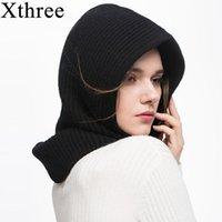 Bonnet / Crâne Caps Casquettes XTHREE HIVER La laine tricotée de foulard Set Set Beanie Femmes Crullies Sonneaux Chapeaux pour hommes Gorras Connet masque