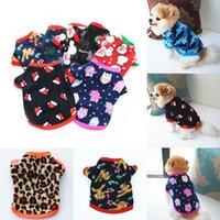 Pet Puppy Kläder Höst och Vinter Polar Fleece Warm Sweater Santa Print Dog Cothes Party Supplies W-00345