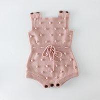 ملابس محبوك الوليد السروال القصير اليدوية بومبوم فتاة رومبير 100٪٪ الرضع طفل الفتيان بذلة وزرة 881 v2
