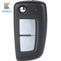 Clé de voiture Keyecu CWTWB1G767 Flip Remote FOB 2 Boutons FSK 433.92MHz avec puce PCF7961M pour Qashqai X-Trail Pulsar Micra Juke1