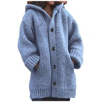 2020 Herbst-Winter-New Knit Cardigans Strickjacke-Frauen Knit-Strickjacke-Mantel lose Street Strickjacke Frauen Jacke Ropa Mujer