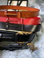 Nuova pelle Black Black Genuine Pelle con cinghia da donna in fibbia in tela con scatola da uomo Designer Belt Belt Designer da uomo