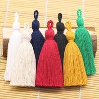 8cm Tassel de algodón colgando cuerda borla flecos para cortinas de coser prendas de vestir decoración del hogar joyería artesanía accesorios 10pcs lot h jlbbpz