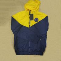 Kulübü Stylist Ceket Erkekler Hırka Rüzgarlık Futbol Baskılı Moda Ceketler Ceket Kapşonlu Sonbahar Dış Giyim Fermuar Homme S-2XL