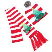 Natale del LED Stoffe Cappelli e sciarpa bambini bambino mamme calda inverno Berretti Crochet Caps zucca pupazzi di neve Festival dono decorazione del partito puntelli GGE2197