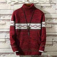 Herbst-Winter-Männer Pullover Rollkragenpullover Langarm-Shirt Mann Jumper Mode beiläufige Art und Weise Style-Pullover für Männer