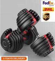 UPS Versandgewicht einstellbar Hantel 5-52.5LBS Fitness-Workouts-Hanteln tönen Ihre Kraft und bauen Sie Ihre Muskeln