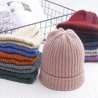 Шапки / черепные колпачки 2021 мода тарелка осень и зима женское обжимаемое вогнутое моделирование простая старая повседневная шерстяная пряжа заостренный Hat1