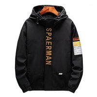 Jaquetas masculinas de alta qualidade homens roupas 2021 estilo primavera jaqueta com capuz letra solta bordado zip up hoodie top coat1