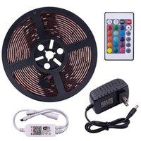 5M RGB 5050 SMD LED tira impermeable luz 44 Tecla de iluminación remota Wifi iluminación inalámbrica flexible