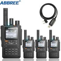 4 stücke Abbree AR-F8 GPS Walkie Talkie High Power 136-520MHz Frequenz CTCSS DNS Detektion Riesige LED-Anzeige 10km langer Bereich