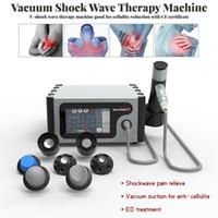 Терапия Shockwave с вакуумной всасывающей обезболивающей боли Ударная машина Ed Лечение Машина Целлюлит Редукционное Физиотерапевтическое оборудование