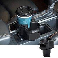 Adattatore dell'organizzatore del supporto della tazza dell'automobile con la base regolabile 2 in 1 veicoli multifunzione multifunzione montaggio tazze di acqua