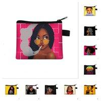Afro Mädchen Reißverschluss Beutel Münze Geldbörsen Kreditkarteninhaber Luxurys Designer Taschen Frauen Key Halter Pocket Clutch Pouch Kinder Brieftaschen E123001