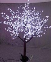 Nowy LED Boże Narodzenie Light Cherry Blossom Drzewo 480 SZTUK Żarówki LED 1.5m / 5 stóp Wysokość Kryty Lub Outdoor Użyj Darmowa Wysyłka Drop Shipping Raindoodporna