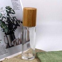 貯蔵ボトル瓶60mlの透明なガラスローションが付いているカンプ化粧品の竹のふた