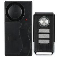 Télécommande sans fil d'alarme capteur de porte Vibration Control Accueil Maison Fenêtre Porte de sécurité Détecteur capteur voiture avec 4 fonctions