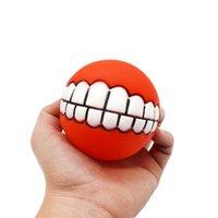 مضحك الحيوانات الأليفة الكلب جرو القط الكرة الأسنان لعبة pvc مضغ الصوت الكلاب تلعب جلب صرير اللعب إمدادات الحيوانات الأليفة جرو الكرة الأسنان السيليكون لعبة 187 K2