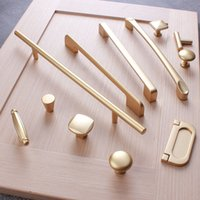 Moda nórdica aleación de zinc cocina cajón gabinete r perillas manijas oro muebles armario armarios puertas tirantes