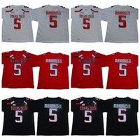 # 5 patrick ماهوميس الثاني ncaa تكساس تك ريد الرجال كلية كرة القدم جيرسي الرجال كرة القدم جيرسي أسود أحمر أبيض شحن مجاني حجم S إلى 3XL