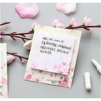Mohamm 30 قطع الأمريكية الكرز زهر kawaii لطيف مثبت ملاحظات مذكرة الوسادة في اليابانية نمط يوميات القرطاسية رقائق القصاصات deco f sqcts
