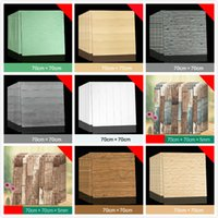 10PCS 3D Foam Wall Panel Self Adhesive Stickers Wood Grain H...