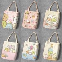Ivyye Sumikko Gurashi Moda Anime Katlanabilir Tuval Alışveriş Çantası Rahat Omuz Çantaları Özelleştirilmiş Tote Çanta Bayan Kızlar Yeni Y201224