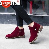2021 novas mulheres martin botas outono inverno botas clássico zíper neve tornozelo inverno camurça quente pele pelúcia mulheres sapatos # f14j