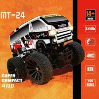 أطفال اللعب سرعة RC سيارة 1/24 صغيرة bigfoot mt-24 rc الجمعية نموذج لغز بعيد محرك البسيطة bigfoot خارج الطريق سيارة التحكم عن بعد