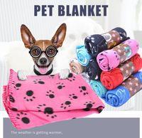 60 * 70cm Couverture d'animaux Petite Paw Patte d'imprimante Cat Dog Mollet Touche Soft Warmer Soft Couvertures Lits Coussin Coussin Couverture de chien Couverture Livraison Gratuite