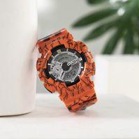 6 Farbfabrik Direkter Großhandel Mode Einfache wasserdichte Leuchtmuster Sport Elektronische Uhr