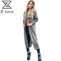 Trenchs de Femme Coats Z-Zoux Femmes Coat Manteau Plus Taille Bande-vent longue Vintage Vintage Casual Gris Opond Automne Hiver 2021 Mode