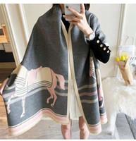 Luxury Winter 2020 New Carriage Scarf Warm Shawl Thicken Tassels Horse Fashion Cashmere Poncho Cape Womens Wraps