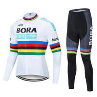 2020 보라 팀 사이클링 긴 Sleevess 유니폼 (세트) 사이클링 저지 젤 패드 자전거 세트 MTB Sobycle 로파 Ciclismo 남성 자전거 착용