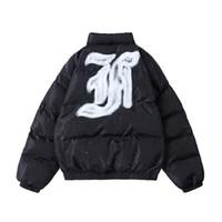 Высокая улица зимняя вышитая одежда мужская стенд толстый хлопковый мягкий негабаритный ватный куртка ветровка повседневная парка