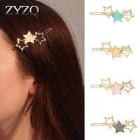 Haarclips Barrettes Zyzq Japan und Südkorea Zubehör Kreative Nette Pentagram Haarnadel Süße Mädchen Stern Pony Clip1