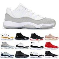 Ucuz 11 11s Erkek Kadın Basketbol Ayakkabıları Metalik Gümüş Düşük Donanma Sakız Concord Düşük Legend Mavi 5.5-13 Bayan Erkek Yeni Spor Ayakkabı