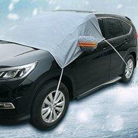 Автомобильные охватывает зимний снежный блок морозного лобового стекла солнцезащитный крем половину капот пыленепроницаемый ультрафиолетовый защита дождевой крышки1