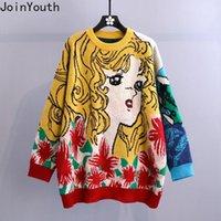 Joinyouth de dibujos animados de la criada con capucha suéter 2020 otoño invierno ropa coreana géneros de punto Weater elegante de Kawaii de gran tamaño Outwear Sueter