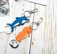 Original Manufacturers Sell Magnet Refrigerator Paste Dolphin Seahorse Silicone Soft Glue Key Chain Bottle Opener