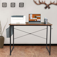 Bureau d'ordinateur avec sac de rangement, 39'''Deins industrielle Bureau de bureau, petite table d'ordinateur portable de bureau