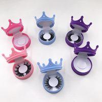 Falsche Wimpern Crown Wimpern Verpackungsbox Nette Schönheit 3D Nerz Custom Logo Lieferant