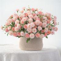 Dekorative Blumen Kränze Kleines lila künstliches Paket Gefälschte Seide Home Garten Party Dekoration Kranz 20 Heads1