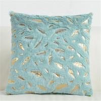 الفانيلا وسادات الساخنة وسادة سوداء يغطي الذهبي ريشة سائد لينة ل ديكور المنزل أريكة كرسي السرير بلون DDD4288