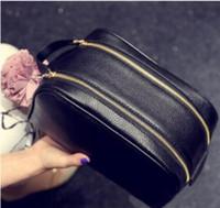 26 سنتيمتر جودة الرجال السفر حقيبة المرحاض تصميم الأزياء المرأة غسل حقيبة كبيرة سعة كبيرة أكياس التجميل ماكياج أدوات الزينة حقيبة الحقيبة