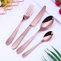 Set de couverts élégants 5Couleurs de table Couverts de vaisselle en acier inoxydable ustensiles de cuisine comprennent une cuillère à fourche de couteau cuillère cuillère FFC3435