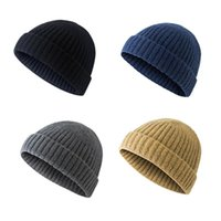 Winter Warm Cap Knitted Beanies Outdoor Sports Skull Solid Color Cycling Hat for Men Women
